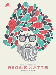 Reggie Watts Poster - Graphis