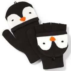 SO® Penguin Convertible Flip Gloves ($5.99) ❤ liked on Polyvore