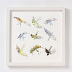Birds made from maps - swoon! - and other lovely map things in this shop!