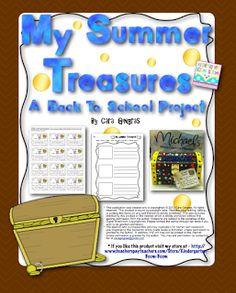 My Summer Treasures - Back To School Project Freebie!