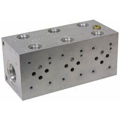 Subplates,Hydraulic Adapters & Fittings,Hydraulics, 1 STATION SUBPLATE Brand new, machined aluminum subplate. One station parallel circuit Power Strip, Oc