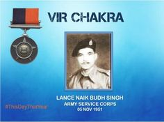 L/Nk Budh Singh disregarding his personal safety evacuated casualties amidst heavy shelling in the face of enemy awarded #http://VirChakrapic.twitter.com/fTBaoBwPfZ #IndianArmy #Army