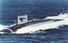USS Sam Houston (SSBN-609) blue in the Pacific.