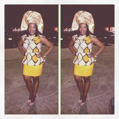 #Ankara #NigerianFashion #FallColors #Yellow #Brown #Tan