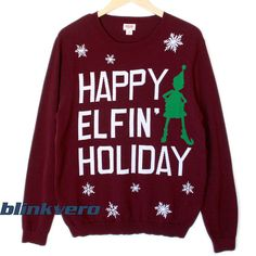 Ariana Grande Happy elfin holiday tacky ugly christmast life style girls and mens sweatshirt…