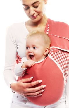 baby sling vichy red from Wallaboo