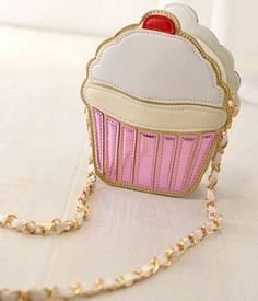 This delectable cupcake crossbody purse. | 20 Products Shaped Like Delicious Foods For Under $20