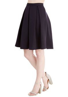 Adorably Yours Skirt in Navy. Show off your sincerely charming style in this navy-blue skirt! #blue #modcloth