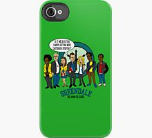 Greendale the Animated Series iPhone Case by mbecks114