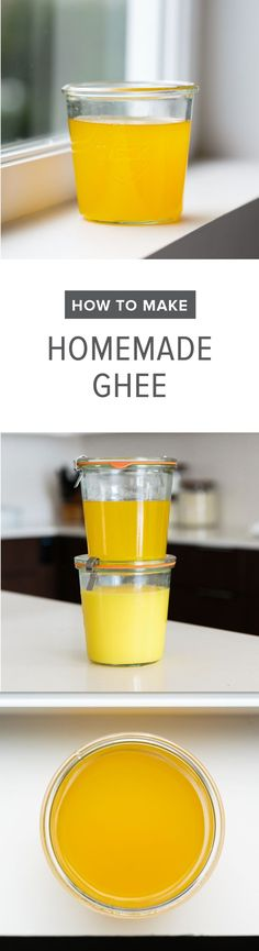 (dairy-free) Homemade ghee is easy to make and cheaper than what you can buy in the store. Watch the tutorial video to see how to make ghee.