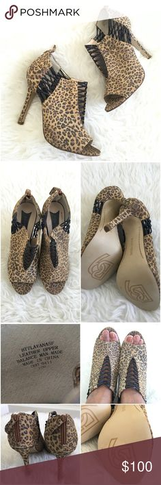 Boutique9 Leopard Print Leather Booties NWOB Animal prints are never going away! Hot pair of booties! Never been worn but may have sticker marks on the sole.   Ask ALL questions before buying, sales are final. I try to describe the items I sell as accurately as I can but if I missed something, please LMK FIRST so we can resolve it before you leave < 5rating.   TRADES/OFFLINE TRANSACTIONS  LOWBALLING (Please consider the 20% PM fee) ✅Use OFFER BUTTON please   &  Free home Boutique 9 Shoes…
