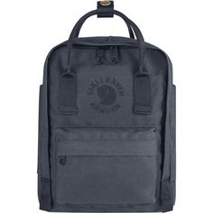 Fjallraven - Kanken, Re-Kanken Mini Recyclable Pack, Heritage and Responsibility Since 1960, Slate