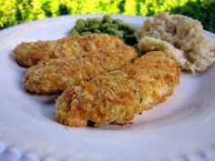 Plain Chicken: Cornflake Chicken Fingers, made this tonight and all three kids cleaned their plates!!!!  Yummmmm!!!!!