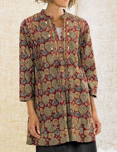 Amboli Tunic - Red/Multi  Love this top! And this company, which is even better then Fair Trade!