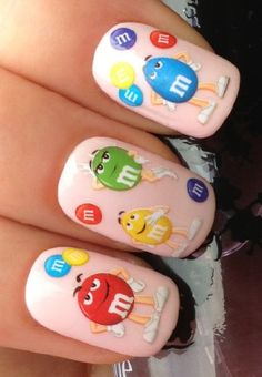 NAIL ART WRAP WATER STICKER DECALS TRANSFERS CHOCOLATE/PEANUT M&M'S SWEETS #473 at.your.fingertips.nailart.design http://www.amazon.co.uk/dp/B00987QPHI/ref=cm_sw_r_pi_dp_JxFRtb0DSZZYEHTE