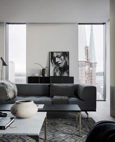 Not the rug Find: Beautiful Interior Inspiration by Swedish Photographer Jesper Florbrant Bedroom Furniture Design, Decor Interior Design, Living Room Furniture, Home Furniture, Simple Interior, Business Furniture, Luxury Furniture, Garden Furniture, Modern Furniture
