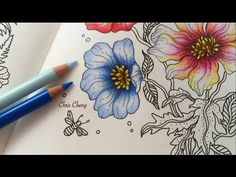 Sharing How I Color Spring 4 of 5 Daydreams (Dagdrömmar) Coloring Book Coloring…