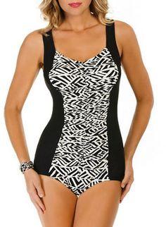 b639f3d03b Penbrooke Print Insert One Piece Suit $100 $75 One Piece Suit, One Piece  Swimsuit,