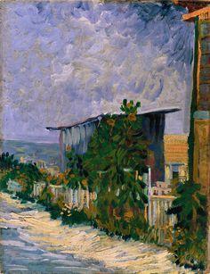 Shelter on Montmartre, 1884-88.Vincent van Gogh.