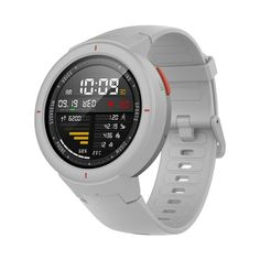 Amazfit Verge Smartwatch with GPS Plus GLONASS All-Day Heart Rate and Activity Tracking Long Battery Life Make and Answer Phone Call Waterproof White Fitness Tracker, Usb, Smart Home Control, Smartphone, Fitness Wristband, Thing 1, Fitness Watch, Heart Rate Monitor, Tecno