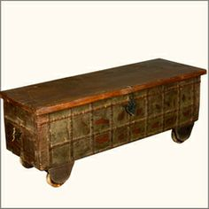 Discovered Treasures Reclaimed Wood Rolling Hope Chest