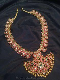 Gold Antique Kemp Necklace, Gold Kemp Necklace Designs, Gold Antique Kemp Mango Necklace Designs.