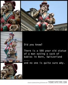 An old statue in Switzerland…