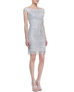 Kay Unger New York Off Shoulder Sequined Lace http://sharonruizstuff.tumblr.com/post/84827795405/kay-unger-new-york-off-shoulder-sequined-lace