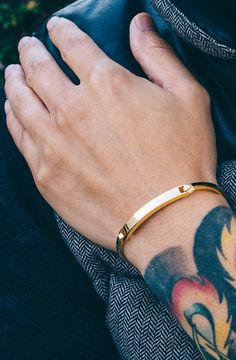 Mister Axle Id Bracelet Mens Gold