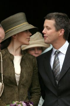 Miss Mary Elizabeth Donaldson and Danish Crown Prince Frederik leave City Hall on May 12, 2004 in Copenhagen, Denmark. The couple attended a reception at City Hall prior to their wedding scheduled for May 14th.