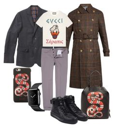 """gucci"" by danilomk on Polyvore featuring Gucci, men's fashion and menswear"