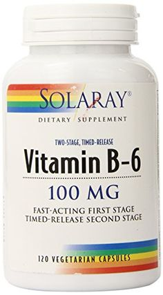 Solaray B-6 TSTR Supplement, 100mg, 120 Count -- Find out more about the great product at the image link.