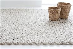 knitted - vloerkleed - gebreid