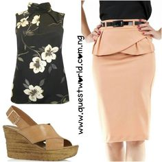 New Arrivals #top #skirt #wedge www.questworld.com.ng Nationwide Delivery. Pay on delivery (lagos). Visit us @suite b20 primal tek plaza akowonjo lagos