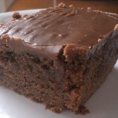 Double Chocolate Coca Cola Cake.  My mom makes the best coco-cola cake ever.