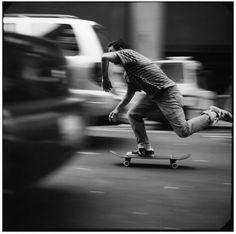 Skateboarding in NYC.