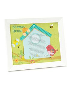 Take a look at this White 'Nonna's House' Poem Frame by Grandparent Gift Company on #zulily today!