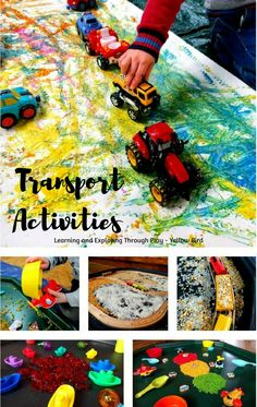 Transport Activities for Kids. Excellent ways to introduce painting and sensory play to Transport.
