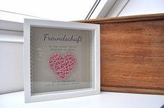 Bilderrahmen Freundschaft mit Herz von grit* auf DaWanda.com