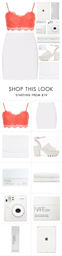 """hot tropics♡"" by charli-oakeby ❤ liked on Polyvore featuring WearAll, Helmut Lang, Chanel, Nly Shoes, NARS Cosmetics, Linum Home Textiles, Fuji, Summer, happy and love"