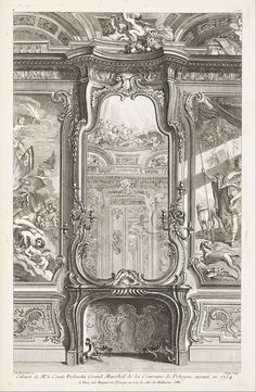 Juste-Aurèle Meissonnier (1698–1750) Cabinet of Mr. Count Bielenski Grand Marshal of the Crown of Poland executed in 1734 1742–48 Engraving on white laid paper Cooper–Hewitt, National Design Museum