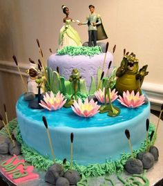 the princess and the frog cake4