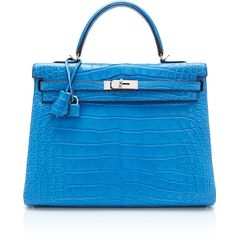 Heritage Auctions Special Collection Hermes 35Cm Mykonos Matte... ($79,500) ❤ liked on Polyvore featuring bags, handbags, hermes, mykonos, hermes purse, blue evening bag, alligator handbag, evening purse and hardware bag
