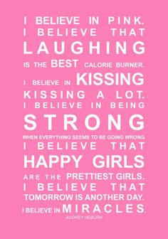 Fabulous mantra by Audrey Hepburn