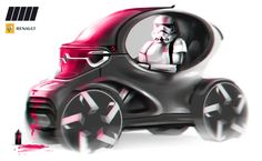 My new favorite render. All renders from now on need Stormtroopers. Sketch Box, Bike Sketch, Car Sketch, Car Design Sketch, Smart Car, City Car, Futuristic Cars, Motorcycle Design, Cool Sketches