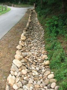 Asheville landscaping and drainage - Alles über den Garten Backyard Drainage, Landscape Drainage, Drainage Ditch, Rock Drainage, Landscape Timbers, River Rock Landscaping, Landscaping With Rocks, Front Yard Landscaping, Landscaping Ideas
