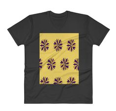 Buy unique print-on-demand products from independent artists worldwide or sell your own designs at the drop of an image! Online Printing, Yellow, Colors, Floral, Mens Tops, T Shirt, Stuff To Buy, Design, Fashion