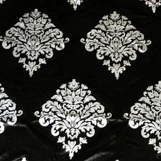 DISCOUNT OFFER Silver Royale Black Velvet Fabric by FabricMart, $11.30