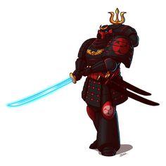 Void Wardens Captain by Blazbaros on DeviantArt Warhammer 40k Memes, Warhammer Art, Warhammer Fantasy, Warhammer 40000, Warhammer Empire, Salamanders Space Marines, Real Samurai, Witchfinder General, Samurai Helmet