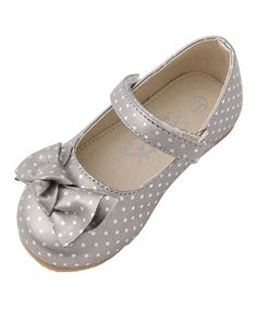 Love this Silver Polka Dot Emily Mary Jane on #zulily! #zulilyfinds